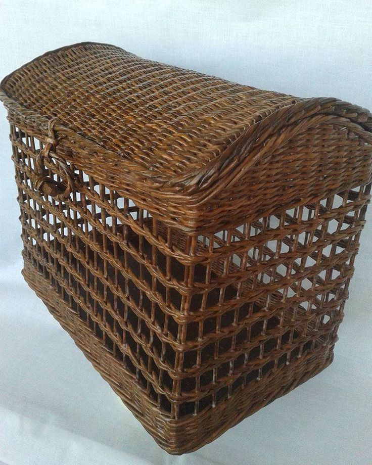 Купить Интерьерный плетеный сундук - сундук, плетение из бумаги, для дома и интерьера, плетеная корзина