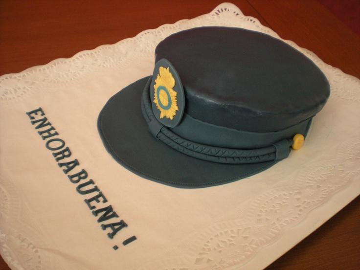 Tarta de una gorra de policía para celebrar un ascenso!!