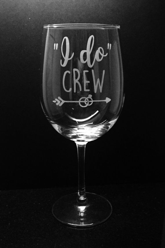Bridal party wine glass  Bachelorette by ExpressionsGlassware