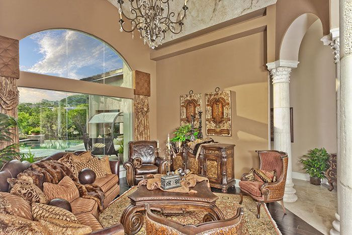 Transitional style living room furnishings & accessories