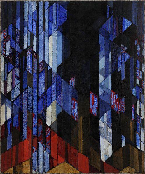cathédrale, huile sur toile de Frantisek Kupka (1871-1957, Czech Republic)