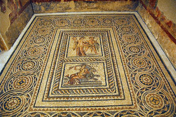 Zeugma mosaics, two panels depicting Europa & Galatea