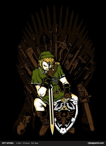 game of thrones zelda shirt