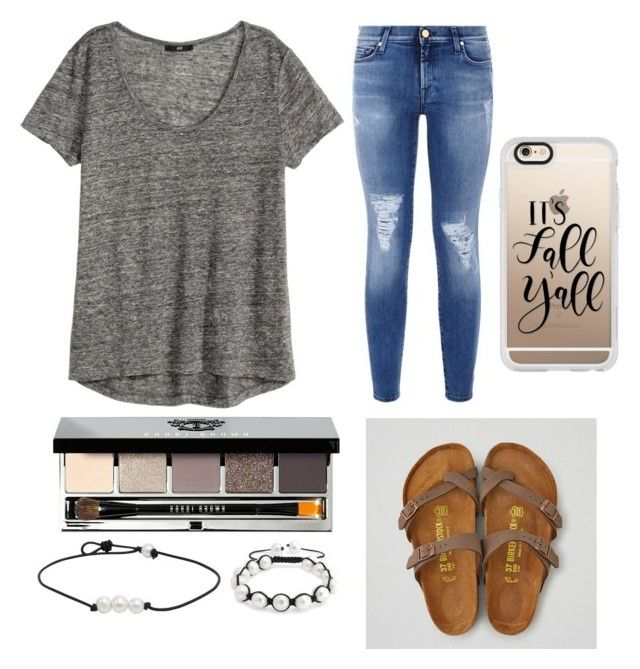 """""""Untitled #82"""" by madi2003-i on Polyvore featuring American Eagle Outfitters, 7 For All Mankind, H&M, Bobbi Brown Cosmetics, Bling Jewelry and Casetify"""