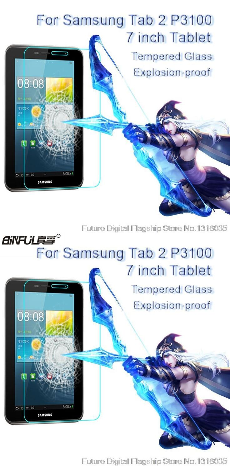 BINFUL Best Premium Tempered Glass for Samsung Galaxy Tab 2 7.0 P3100 9H Hard Transparent Screen Protector  Film