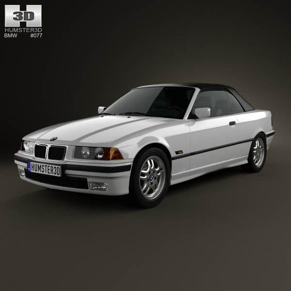 BMW 3 Series (E36) Convertible 1994 3D Model