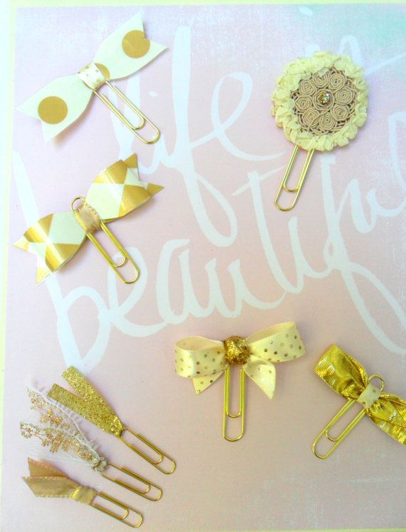 Gold Decorative Paper Clips Wedding Planner By DownSouthChicDecor