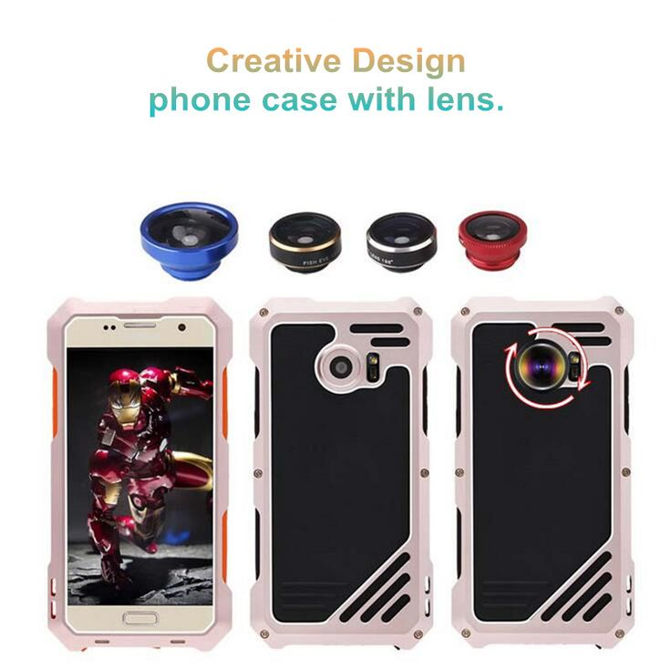 nice S7 Aluminum Metal Mobile Phone Cases Shockproof Luxury Waterproof Phone Case With Three Lens Back Cover For Samsung Galaxy S7