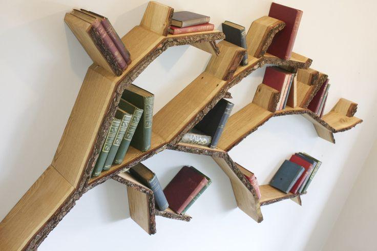 18 best tree shelves images on pinterest tree shelf for Tree shelving unit