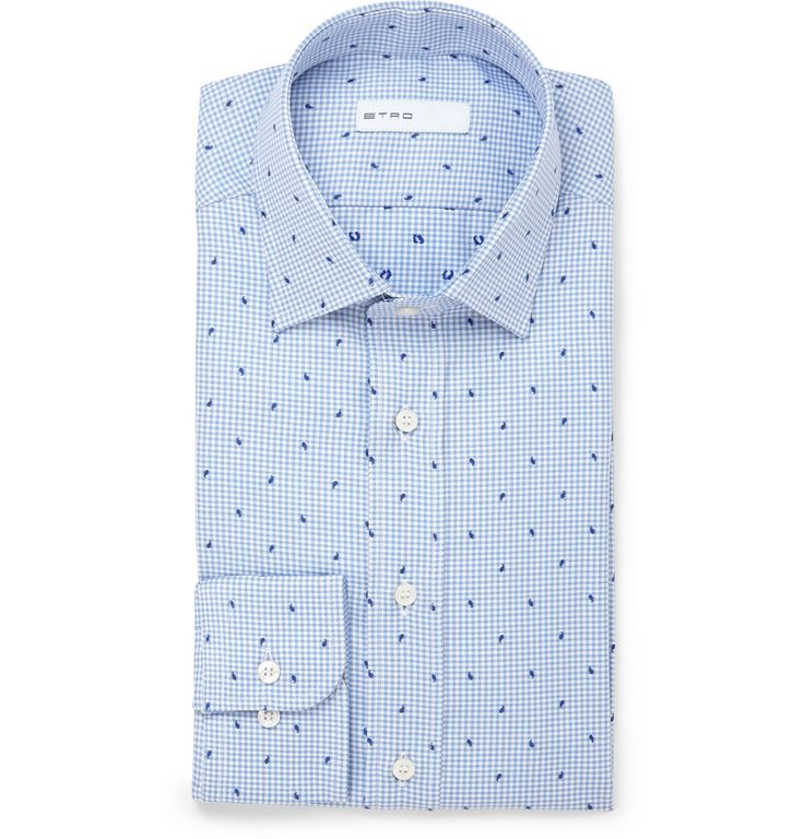 Etro - Paisley Check Cotton-Jacquard Shirt MR PORTER