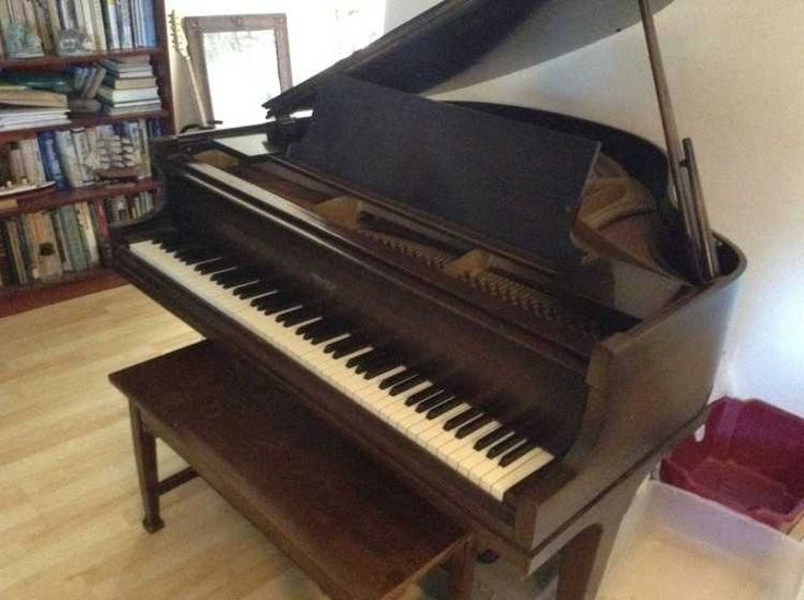 This beautiful2C great sounding baby grand piano with a