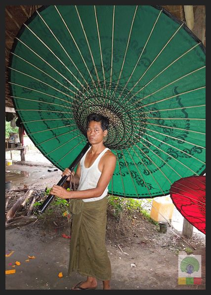 8 Innovative Uses for Bamboo in Myanmar. Traditional Burmese parasol. In Pathein there are parasol workshops you can visit. Myanmar (Burma) Travel Photobog. Join us on our journey:  www.myanmartravelessentials.com Like us on Facebook: www.facebook.com/myanmartravelessentials