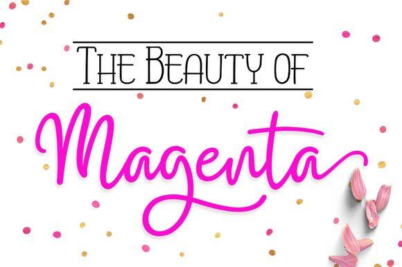 Magenta by Byuly Ayika on @creativemarket