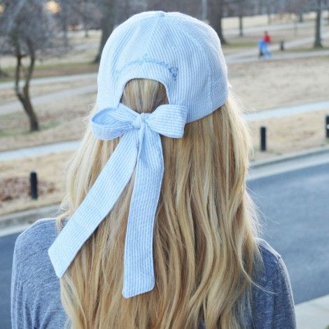 bow back hat, makes a ball cap girlie! i love this!