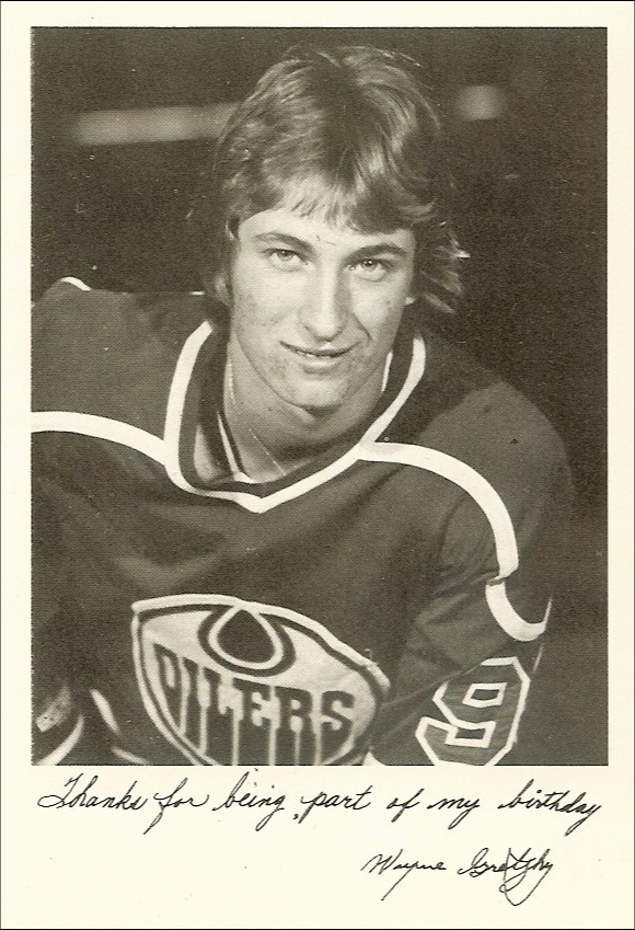 Today is Wayne Gretzky's birthday. This is from 33 years ago, when he turned 18.