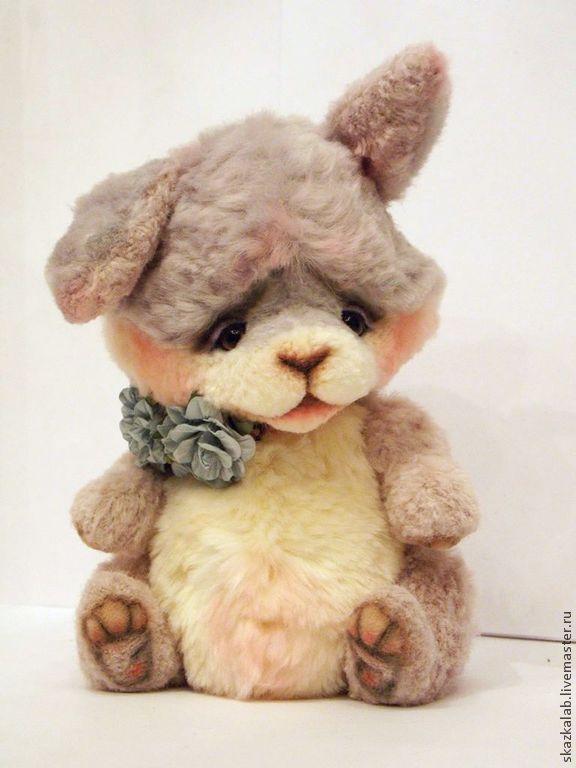 Купить Флаффи - бледно-сиреневый, зайка, зая, заяц, кролик, зайчик, тедди, авторский, коллекционный
