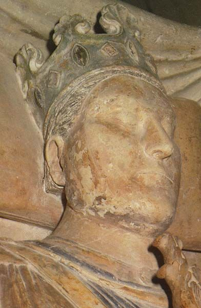 King Henry II of England effigy at Fontervraud Abbey [King Henry II Curtmantel married Eleanor of Aquitane. Their son, King John Lackland, married Lady Agatha de Ferrers & bore Joan FitzJohn, who married Llewelyn ap Jorworth. They bore Princess Helena of Wales who married Earl Donald of Mar.. They bore Lady Isabel Mathilda who married Robert the Bruce. They bore Marjorie who married High Steward Walter Stewart.. My ancestors.. BK Thigpen]