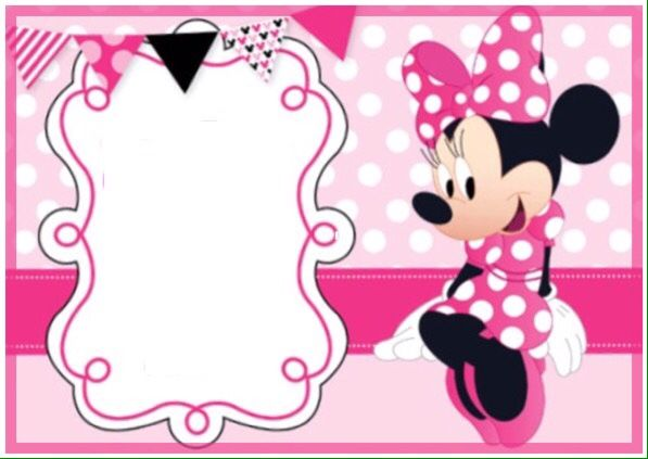 minnie mouse bday invitation