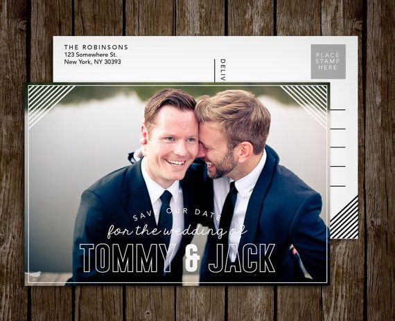 Save the Date Postcard, Custom Photo Postcard, Photo Save the Dates, Modern Save the Date, Wedding Postcard, Wedding Stationery, Rustic Card  #stationery #savethedate #postcard #wedding #invitations #save #the #date #gay #cards #graphic #design #paper