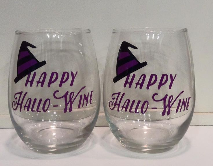 Unique Halloween Wine Glasses Ideas On Pinterest Fall Wine - Vinyl decals for drinking glasses