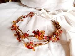autumn head garland