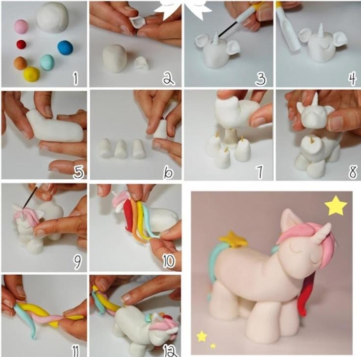 Как сделать из пластилина пони поэтапно