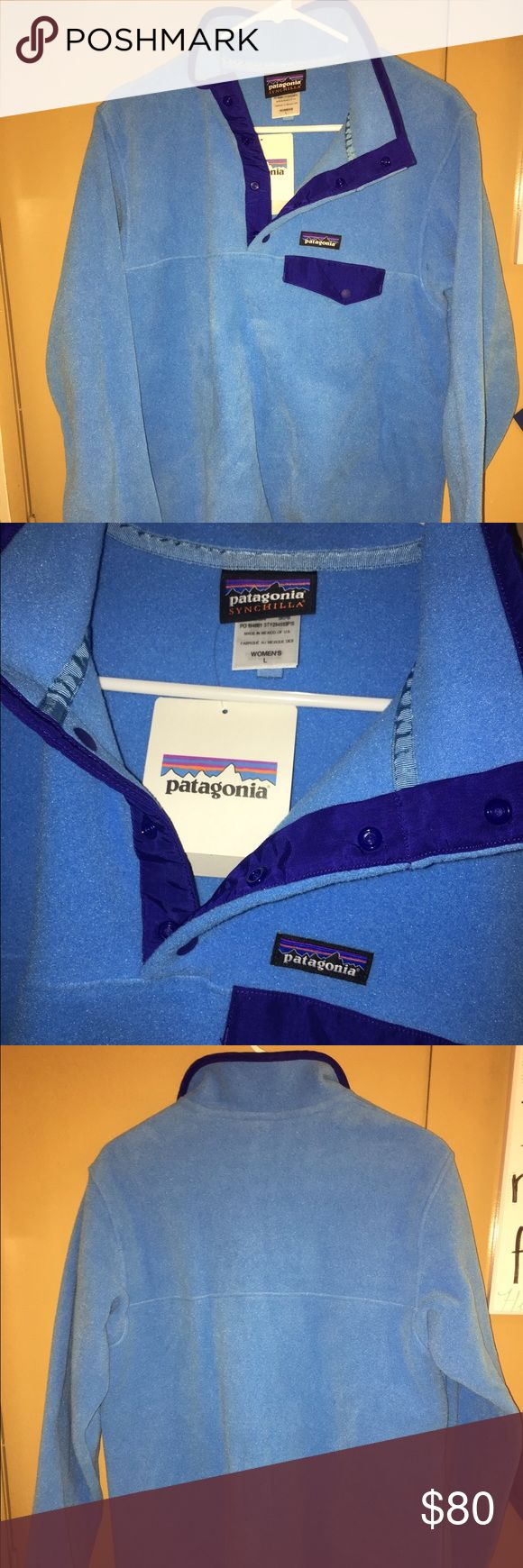 NWT Patagonia Synchilla Snap-T Pullover - Women's NEW WITH TAGS NEVER WORN! Patagonia Synchilla Snap-T Pullover, size large. Patagonia Jackets & Coats
