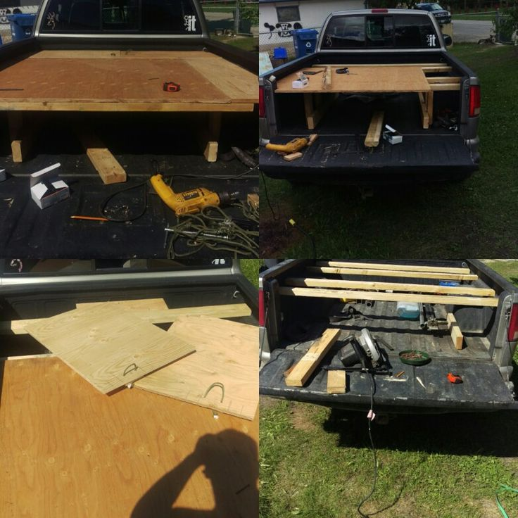 1999 s10 zr2 box bed, 2x4 and 5/8ths plywood with 2-30x21.5 inch access panels for the front. Ease of access to what ever i may store at the frobt of the box