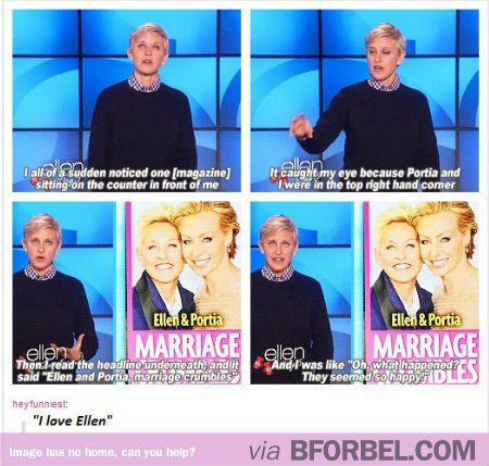 """Ellen And Portia's """"Marriage Crumbles""""…"""