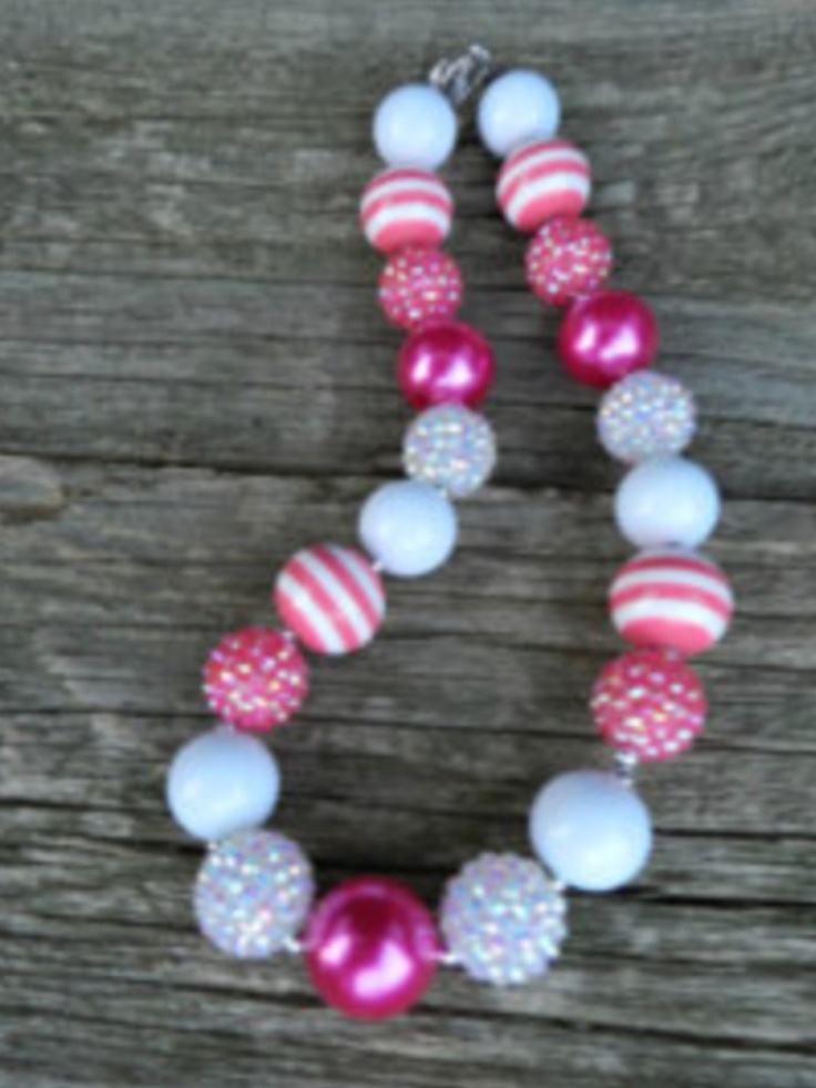Beaded gumball necklace