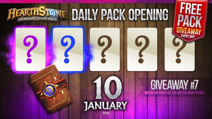 FREE Pack Giveaway #7 / 1 Epic & 1 Rare Cards! Hearthstone Packs Opening...