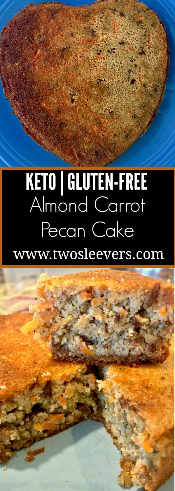 Easy, gluten-free, keto, almond carrot cake. Dump and mix, and bake and this will be the best cake you've ever had.