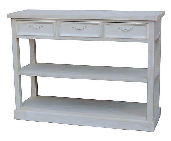 Scaffale con 3 cassetti in legno di abete Linear bianco, 69x125x45 cm