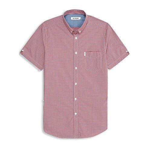 (ベンシャーマン) Ben Sherman メンズ トップス カジュアルシャツ Ben Sherman Mini Mod Check Short Sleeve Shirt 並行輸入品  新品【取り寄せ商品のため、お届けまでに2週間前後かかります。】 表示サイズ表はすべて【参考サイズ】です。ご不明点はお問合せ下さい。 カラー:Red