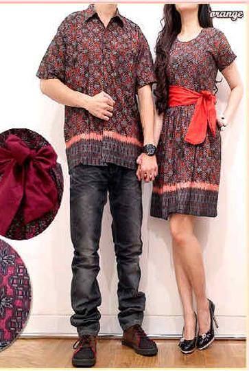 Songket Batik Couple ( Dress Dengan Obi + Kemeja ) Katun     2 warna; Ungu dan Oren     Lebar dada/panjang wanita: cm, pria: cm     Harga : Rp. 142.000,-/pasang     Kode Produk / Product Code : CL2296
