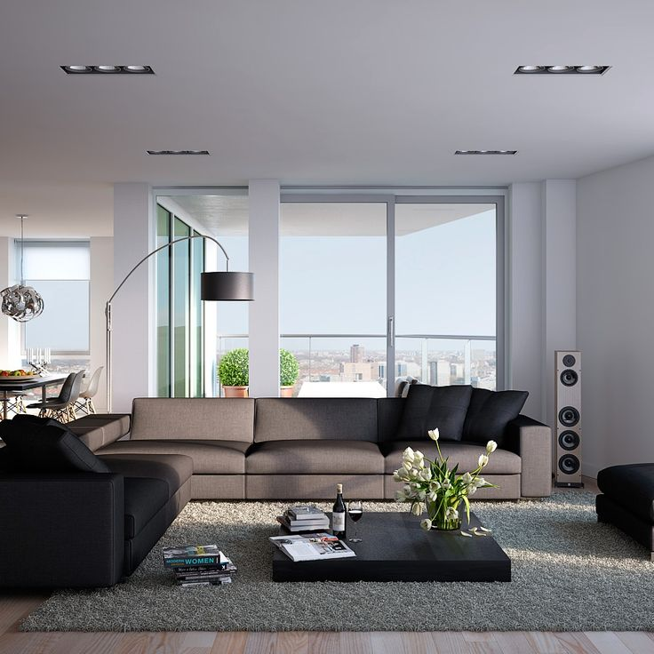 Modern wood apartment living room but not a fan of the table