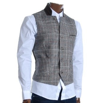 http://amzn.to/10l827t: FLATSEVEN Mens Wool Blend Premium Checker Waistcoat (VE600): Clothing