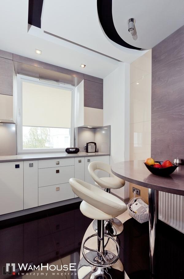 Grey-Black kitchen in Warsaw