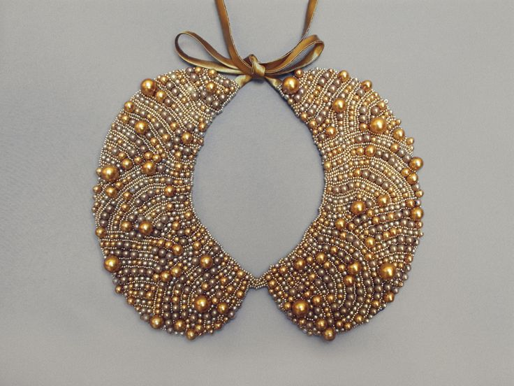 Handmade pearl collar necklace vintage style от ilvakampare