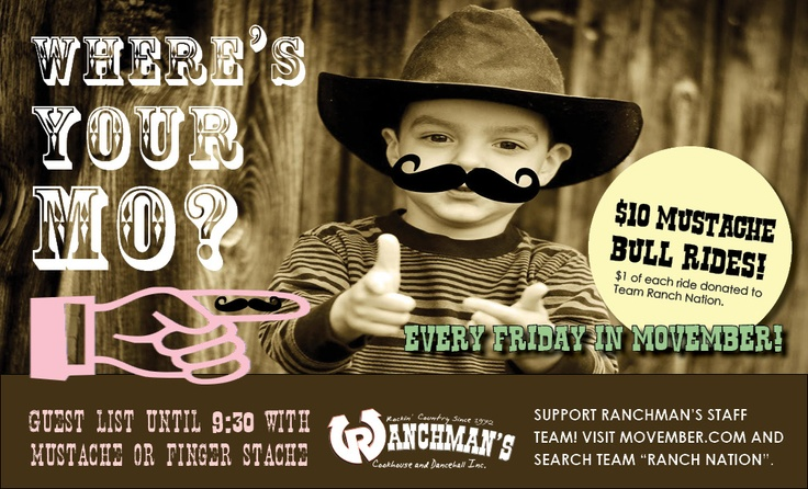 Every Friday of Movember!