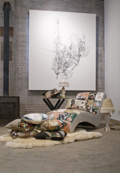 35 best chaise lounge love images on pinterest chaise for Chaise patchwork xl style