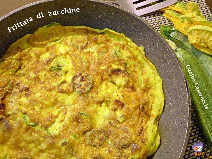 Frittata di zucchine ricetta secondi di verdure facile veloce da preparare ideale anche per riciclare avanzi di zucchine con pecorino e zucchine a rondelle