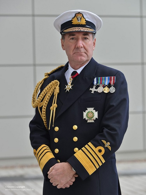 Portrait of the First Sea Lord Admiral Sir George Zambellas KCB DSC ADC.