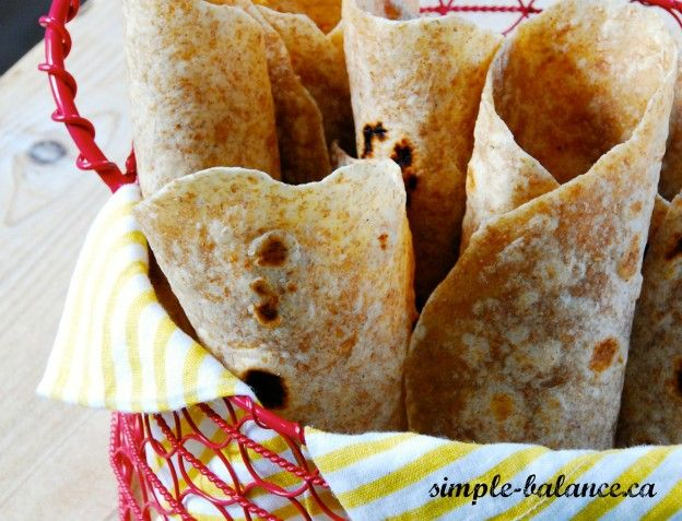 Wholy Homemade Tortillas! Just 4 ingredients and you have wholegrain tortillas in about 40 minutes, start to finish.