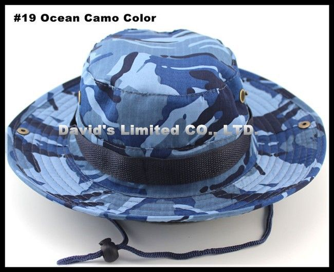 Cheap Bucket Hats, Buy Directly from China Suppliers:	#19 Ocean Camo Military Camo Bucket Hats men Cap Fisherman Hat With Wide Brim Sun Fishing Buck