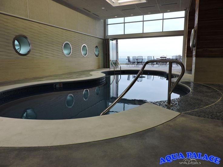 Commercial Inground Fiberglass Pool Installed On The 13th Floor Of A Downtown Omaha Nebraska