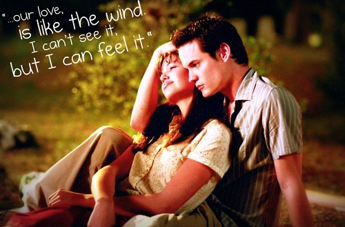 a walk to remember quotes love is like the wind - photo #24