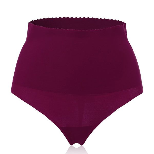 Sexy Ultrathin Seamless Soft High Waist Belly Shaping Thongs For Women