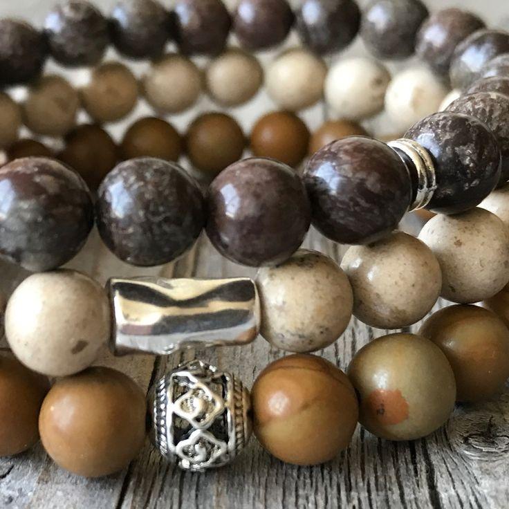Men gemstone stretch stacking bracelet set. Let the sun come ☀️😎 STACKING the bracelets