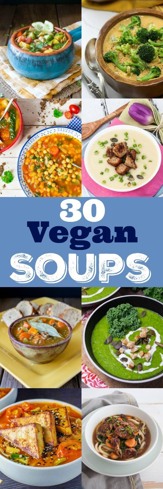 If you're looking for delicious and filling vegan soups and stews, look no further! I teamed up with some of my blogger friends and we've got you covered with 30 nourishing and tasty soups for cold days!